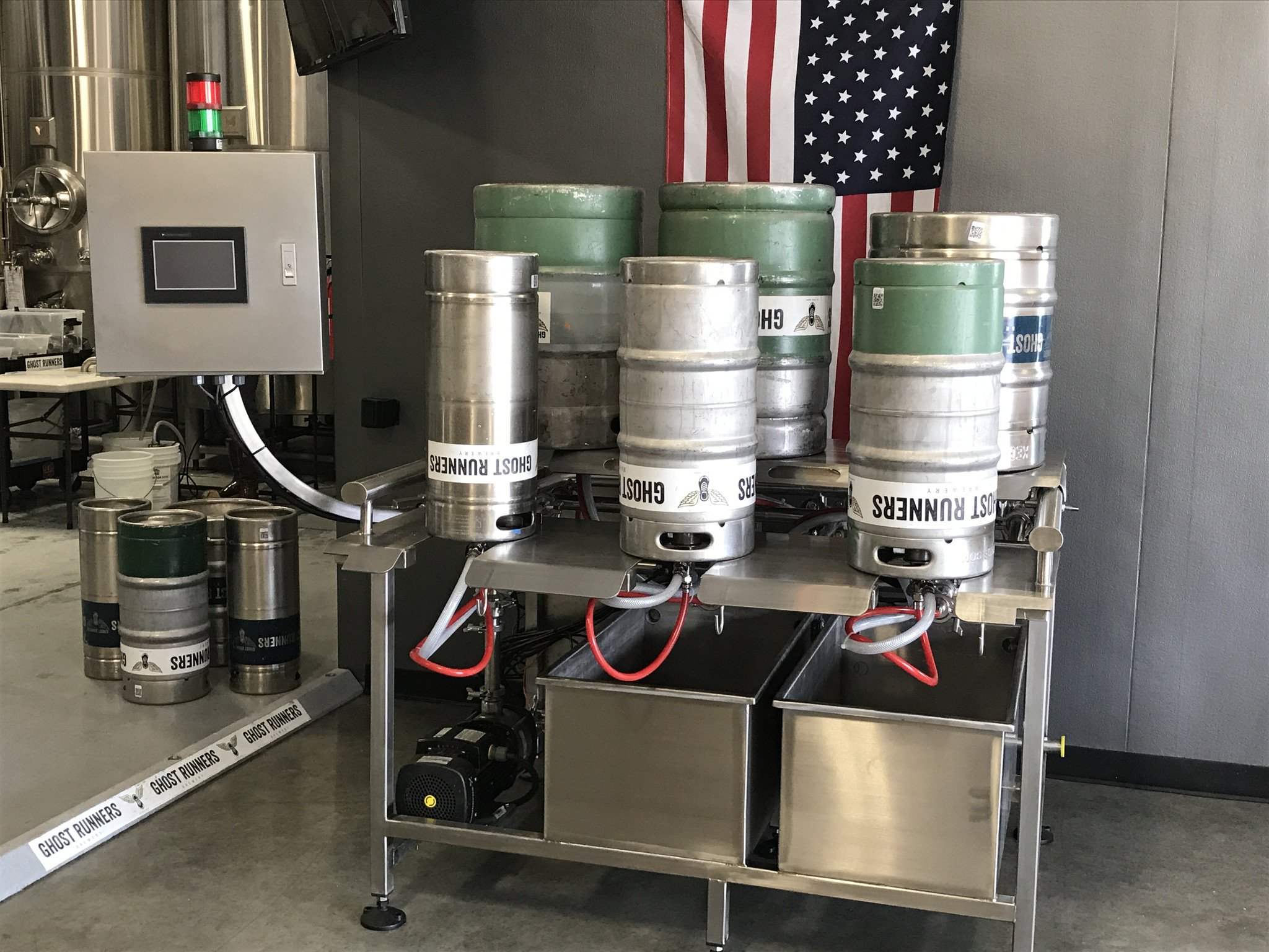 3 Head Semi-Automatic Keg Washer
