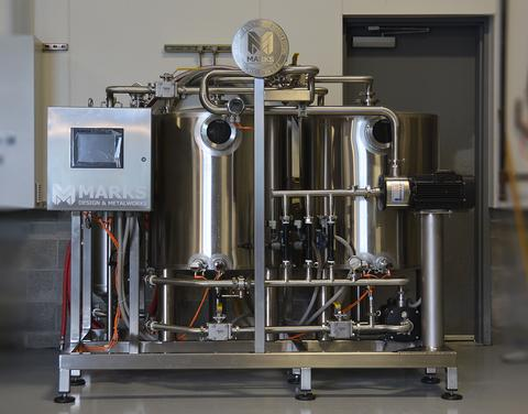 Marks Design & Metalworks is known for their custom stainless steel tanks, and now they're introducing another one: the Semi-Automated 90 Gallon CIP Skid.
