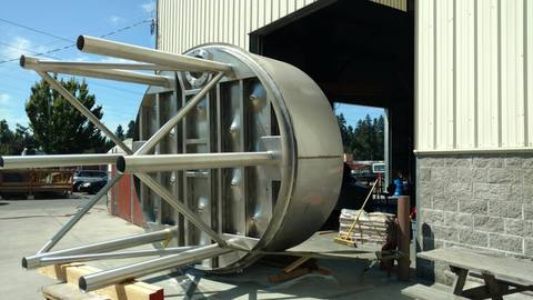 custom 60 bbl stainless steel tank by Marks Design and Metalworks