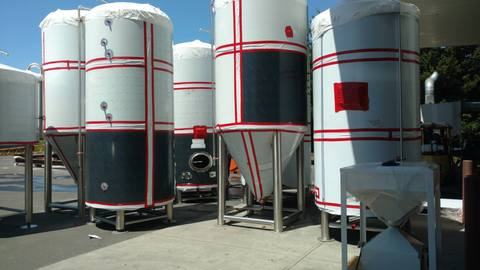 stainless steel tanks for new brewhouse - Marks Design and Metalworks